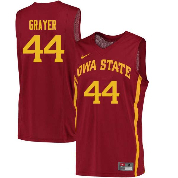 Men #44 Jeff Grayer Iowa State Cyclones College Basketball Jerseys Sale-Cardinal