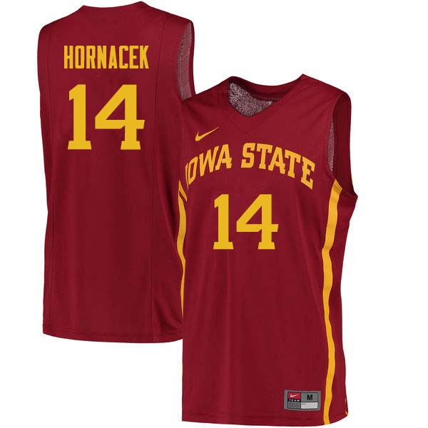 Men #14 Jeff Hornacek Iowa State Cyclones College Basketball Jerseys Sale-Cardinal