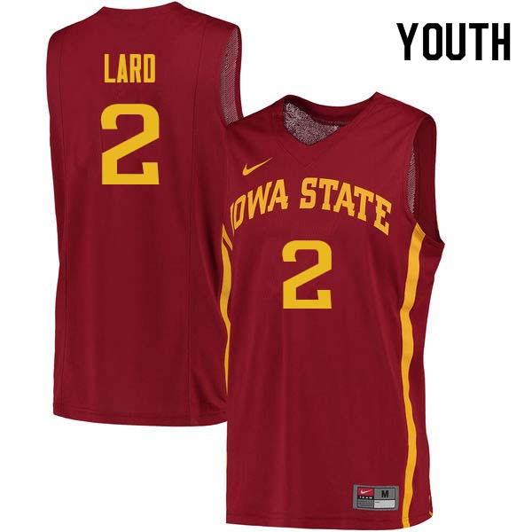 Youth #2 Cameron Lard Iowa State Cyclones College Basketball Jerseys Sale-Cardinal