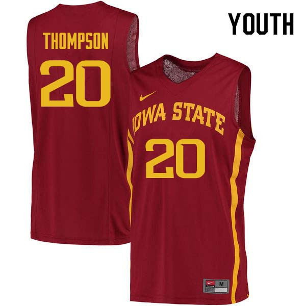 Youth #20 Gary Thompson Iowa State Cyclones College Basketball Jerseys Sale-Cardinal