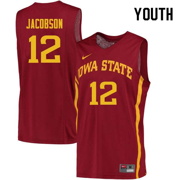 Youth #12 Michael Jacobson Iowa State Cyclones College Basketball Jerseys Sale-Cardinal