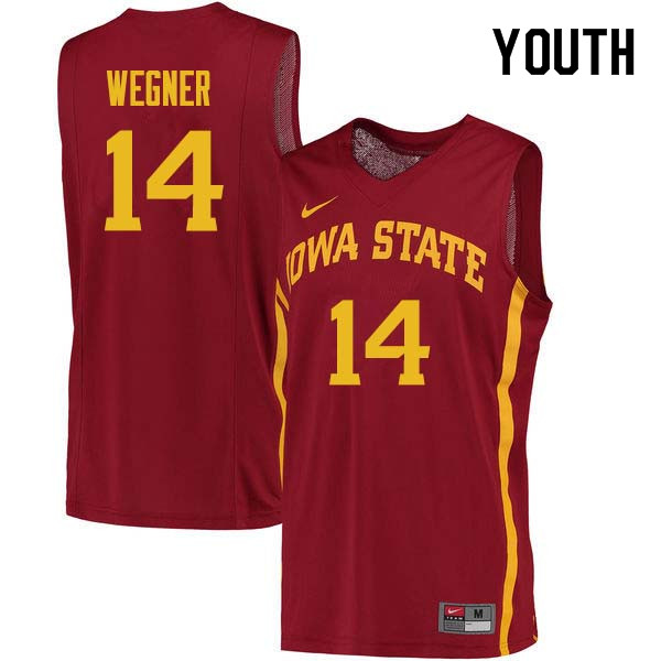 Youth #14 Waldo Wegner Iowa State Cyclones College Basketball Jerseys Sale-Cardinal