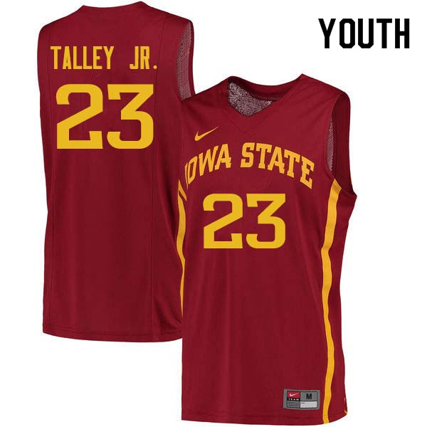 Youth #23 Zoran Talley Jr. Iowa State Cyclones College Basketball Jerseys Sale-Cardinal